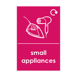 Small Appliances Waste Sticker (option 3) | Safety-Label.co.uk