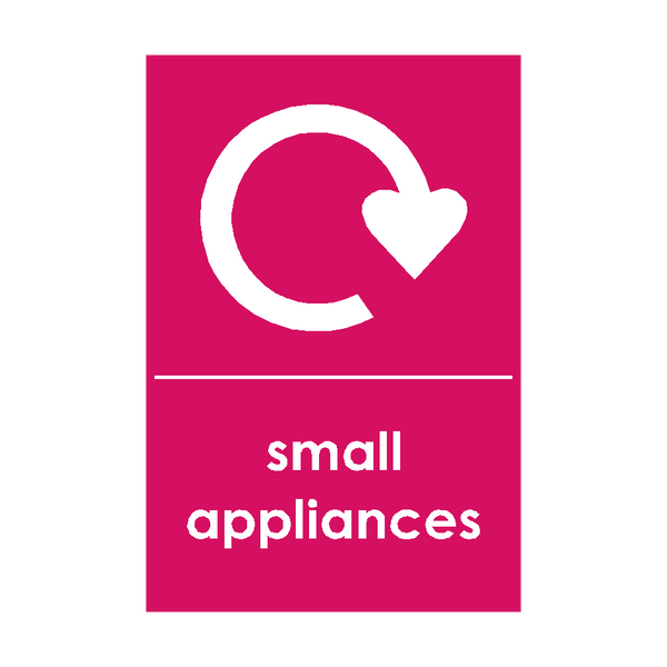 Small Appliances Waste Sign | Safety-Label.co.uk