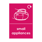 Small Appliances Waste Sticker (option 5) | Safety-Label.co.uk