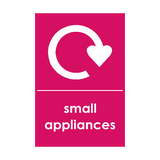 Small Appliances Waste Sticker | Safety-Label.co.uk