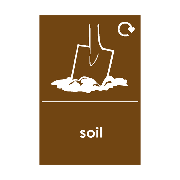 Soil Waste Sticker | Safety-Label.co.uk