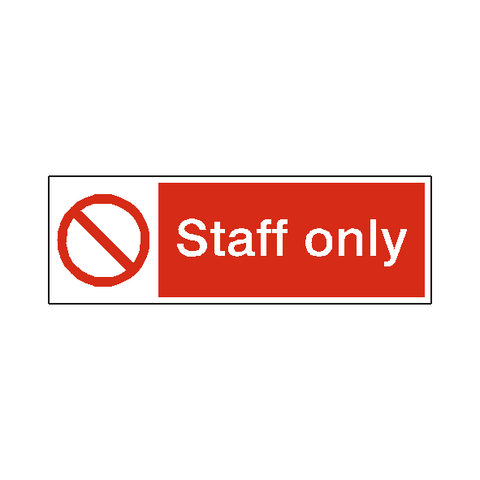 Staff Only Safety Sign - Safety-Label.co.uk