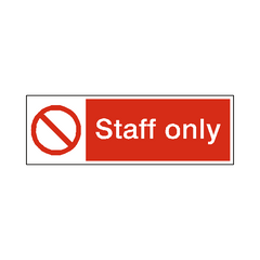 Staff Only Label - Safety-Label.co.uk