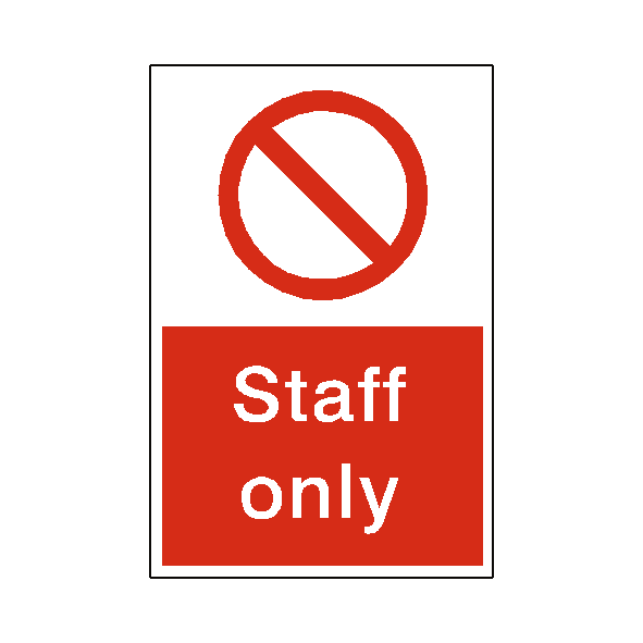 Staff Only Sticker | Safety-Label.co.uk