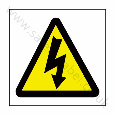 Standard Electric Danger Sign - Safety-Label.co.uk