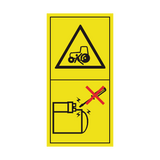 Start Engine From Operator's Seat Only Sticker | Safety-Label.co.uk