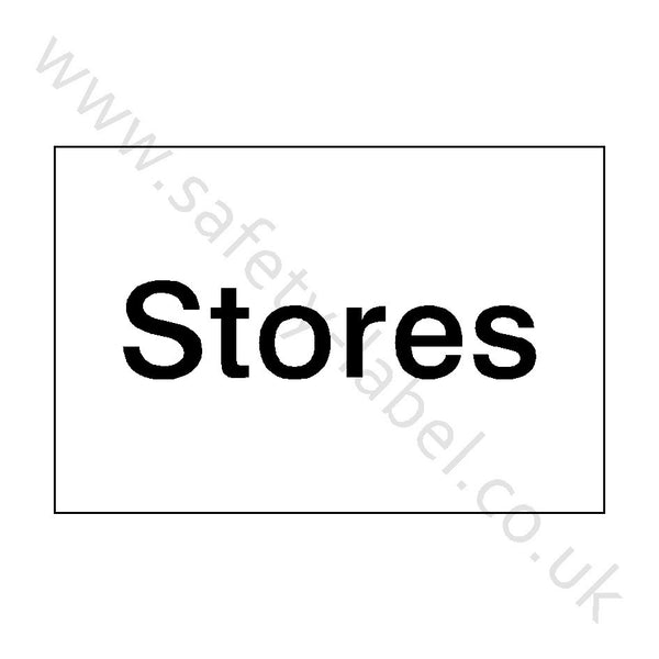 Warehouse Stores Sign | Safety-Label.co.uk