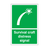 Survival Craft Distress Signal Sticker | Safety-Label.co.uk