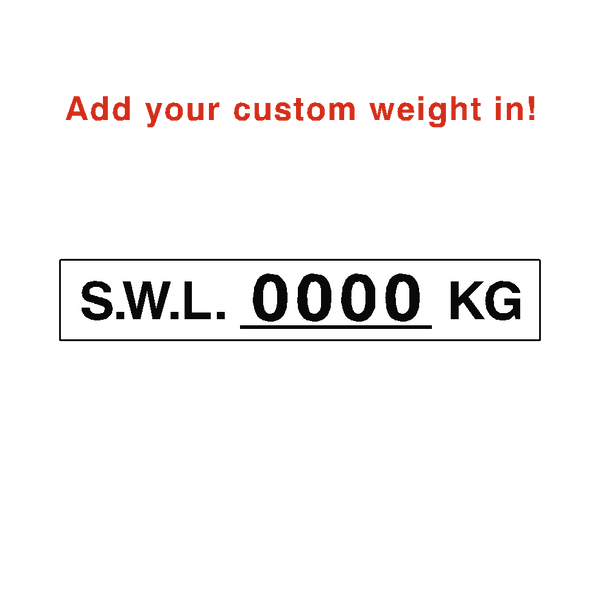 S.W.L Label Kg White Custom Weight - Safety-Label.co.uk