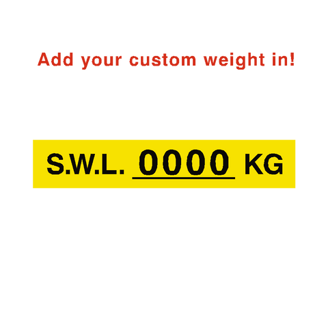 S.W.L Label Kg Yellow Custom Weight - Safety-Label.co.uk