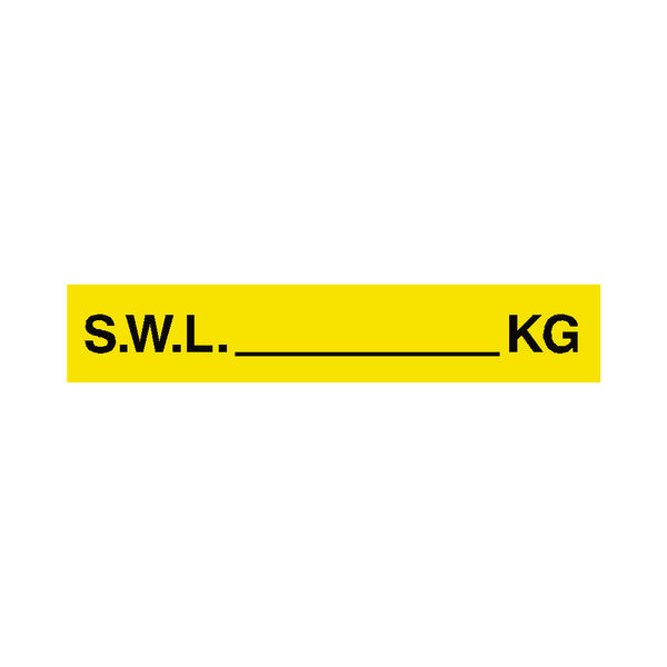 S.W.L Label Kg Yellow - Safety-Label.co.uk