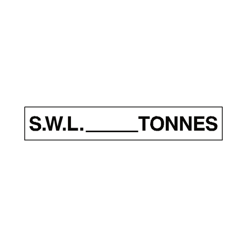 S.W.L Label Tonnes White - Safety-Label.co.uk