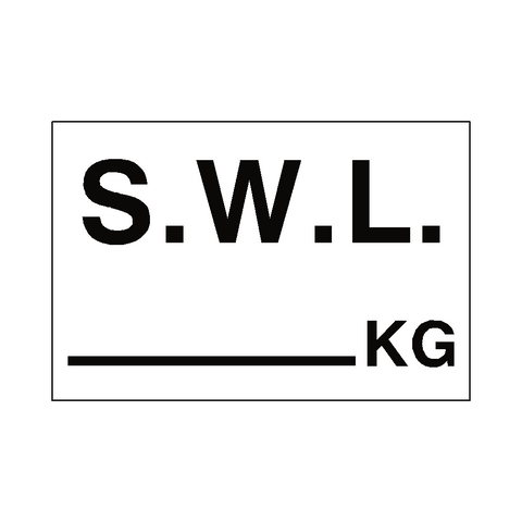 S.W.L Sticker Kg White - Safety-Label.co.uk
