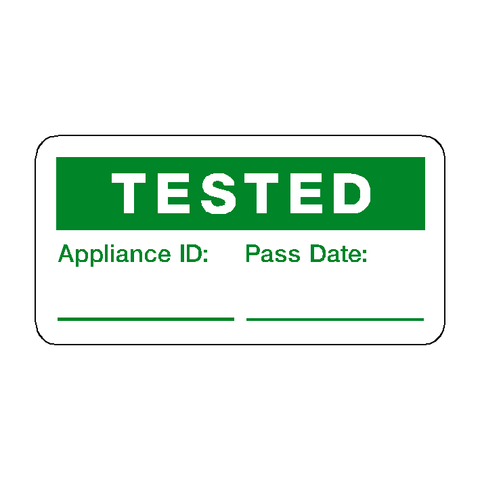 Tested Label - Safety-Label.co.uk