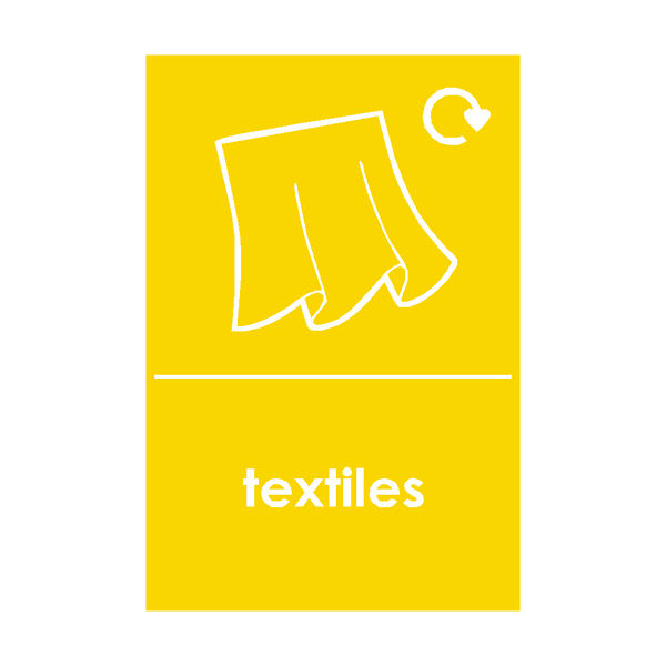 Textiles Waste Recycling Signs | Safety-Label.co.uk