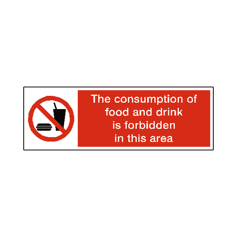 No Food And Drink Label - Safety-Label.co.uk