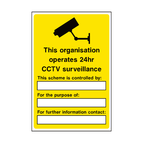 General Cctv Security Sign | PVC Safety Signs | Health and Safety Signs