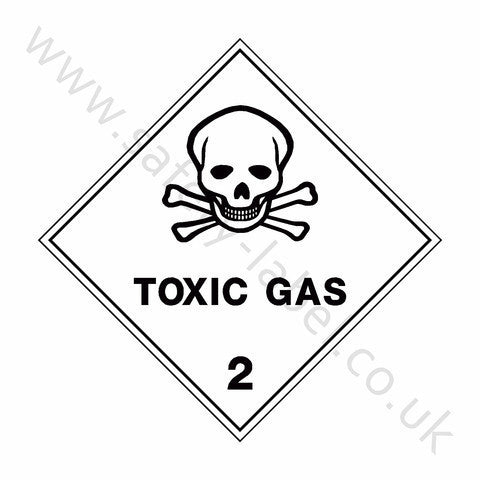Toxic Gas 2 Sign - Safety-Label.co.uk