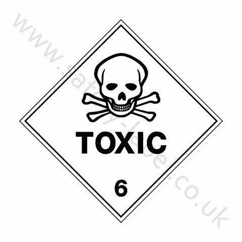 Toxic 6 Sign - Safety-Label.co.uk