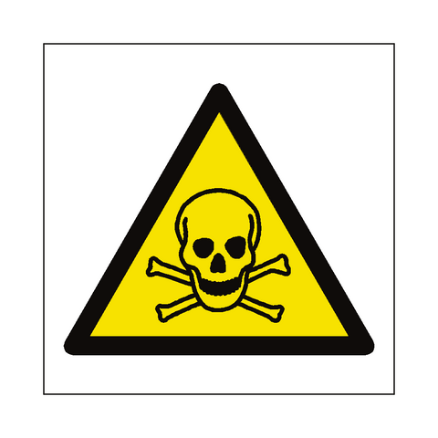 Toxic Material Hazard Symbol Label - Safety-Label.co.uk