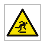 Trip Hazard Symbol Sign | Safety-Label.co.uk
