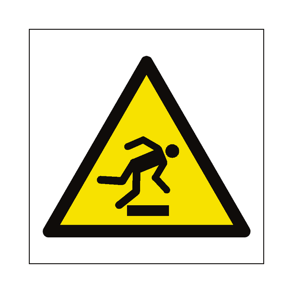 Trip Hazard Symbol Label - Safety-Label.co.uk