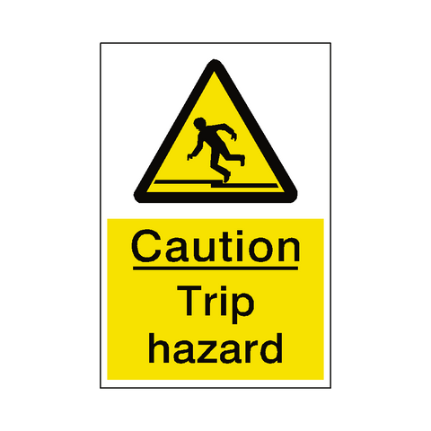 Trip Hazard Sticker - Safety-Label.co.uk