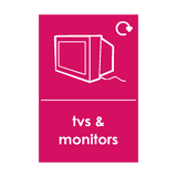TV and Monitor Waste Sticker | Safety-Label.co.uk