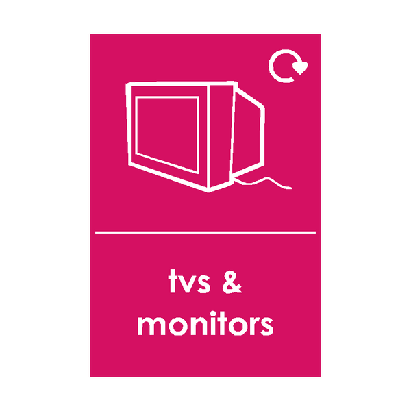 TV and Monitor Waste Sign | Safety-Label.co.uk