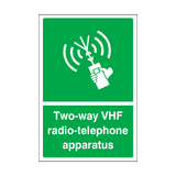 Two-way VHF Radio-telephone Apparatus Sticker | Safety-Label.co.uk