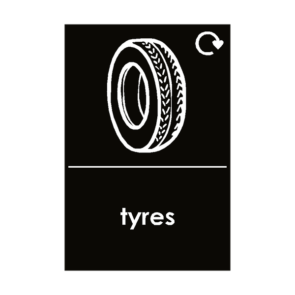 Tyres Waste Sign - Safety-Label.co.uk