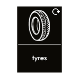 Tyres Waste Sticker | Safety-Label.co.uk