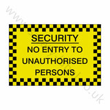 No Unauthorised Security Sticker | Safety-Label.co.uk