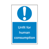 Unfit Consumption Sticker | Safety-Label.co.uk