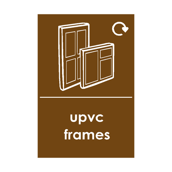 UPVC Frames Waste Sticker | Safety-Label.co.uk