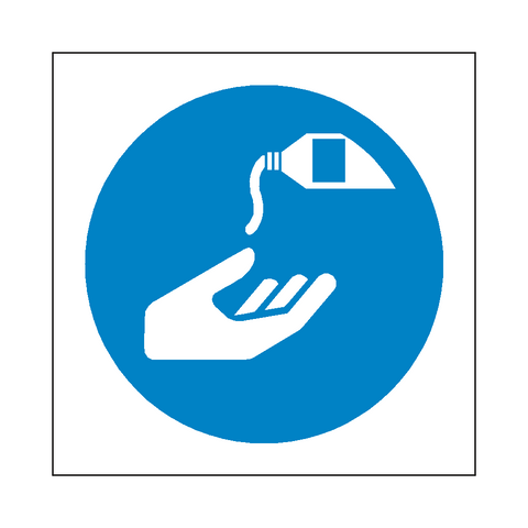 Use Barrier Cream Symbol Sign - Safety-Label.co.uk