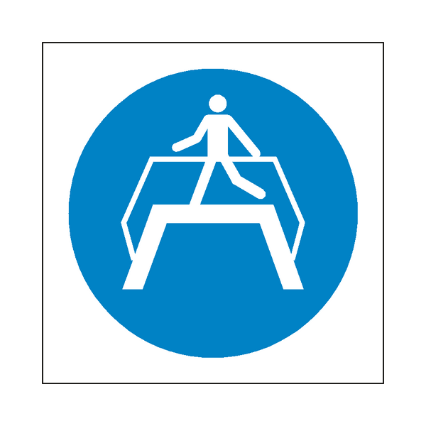 Use Footbridge Symbol Label - Safety-Label.co.uk