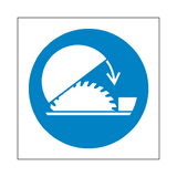 Use Saw Guard Symbol Sign | Safety-Label.co.uk
