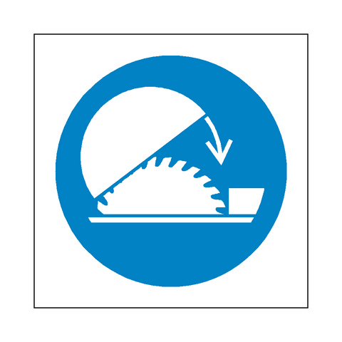 Use Saw Guard Symbol Label - Safety-Label.co.uk