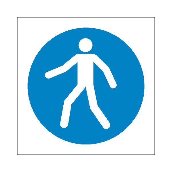 Use Walkway Symbol Sign - Safety-Label.co.uk