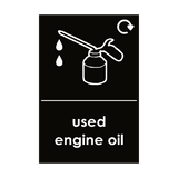 Used Engine Oil Sticker | Safety-Label.co.uk