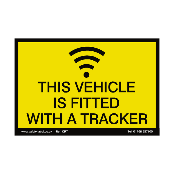 Vehicle Tracker Sign | Safety-Label.co.uk