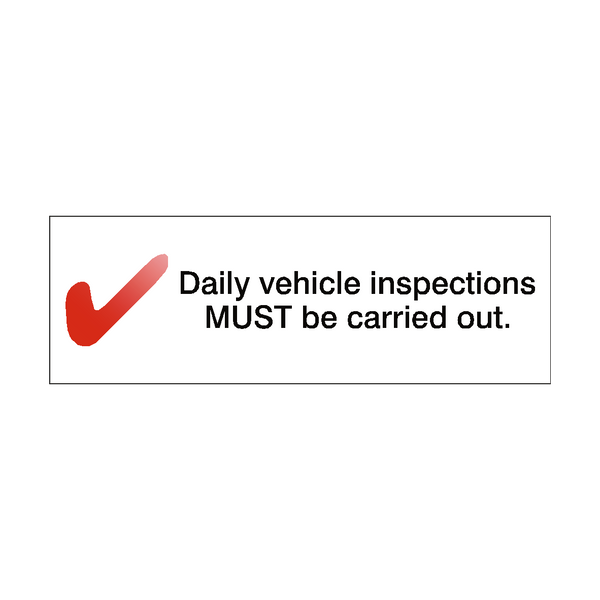 Daily Inspection Reminder Sticker