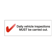 Daily Inspection Reminder Sticker - Safety-Label.co.uk