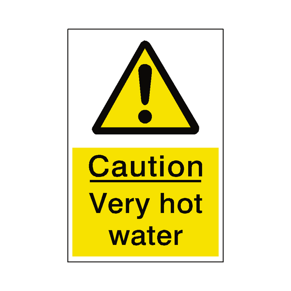 Very Hot Water Hazard Sign - Safety-Label.co.uk