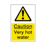 Very Hot Water Sticker | Safety-Label.co.uk