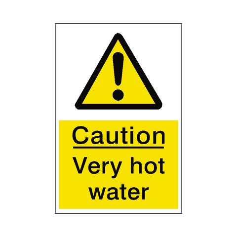 Very Hot Water Sticker - Safety-Label.co.uk