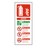 Water Fire Extinguisher Sign | Safety-Label.co.uk