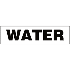 Water Legal Lettering Sticker - Safety-Label.co.uk