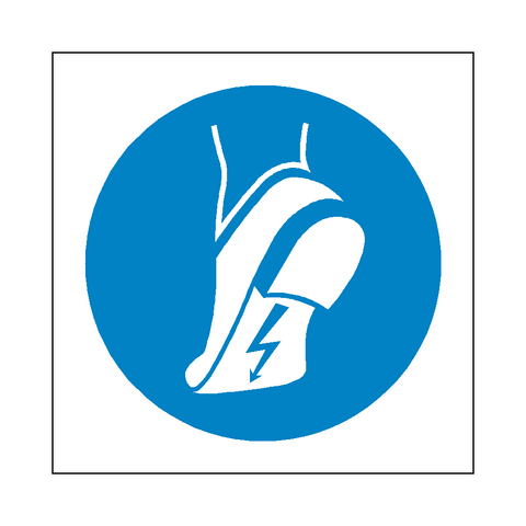 Wear Anti-Static Footwear Symbol Sign - Safety-Label.co.uk